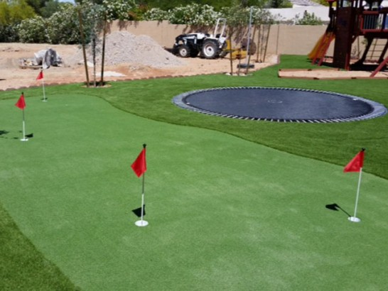 Plastic Grass Escondido, California Backyard Putting Green, Backyard Designs artificial grass